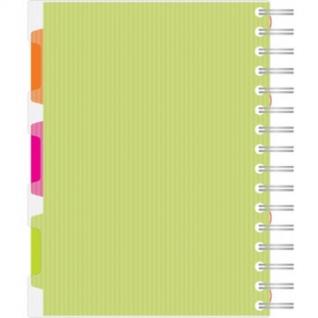 Бизнес-тетрадь 140л,кл,А5,SPIRAL BOOK Салатовый,евросп,обл.пл,раздел.84108