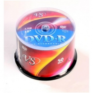 Носители информации VS DVD-R 4,7GB 16x Cake/50