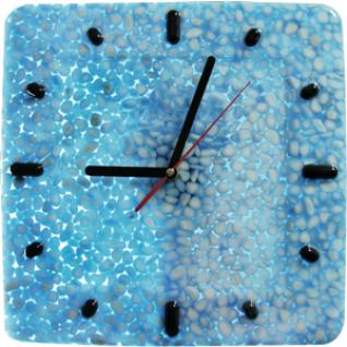 """Часы настенные""""Fondali""""D-29 см Белый мрамор в голубой смоле."""