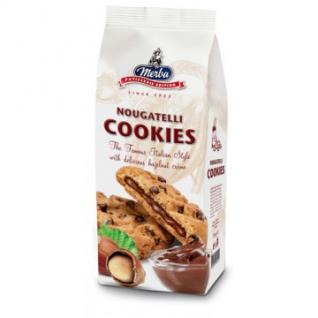 Печенье Мерба с горьким шоколадом и ореховым кремом,200гр