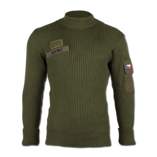 Made in Germany Пуловер, Чехия, цвет оливковый, б/у