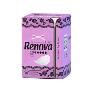Ультратонкие ночные гигиенические прокладки RENOVA, 10 шт