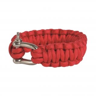 Made in Germany Браслет из паракорда с застежкой шириной 22 см, цвет красный