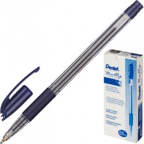 Ручка шариковая PENTEL Bolly BK425-C резин.манжет.,синий 0,5мм 37874599 1