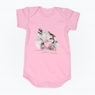 """Боди """"Мама и малыш"""" - Тигры, с коротким рукавом, розовое, р. 68 Leo"""