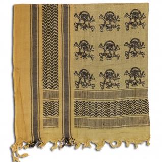Made in Germany Шемаг цвета хаки и черного, с изображением черепов