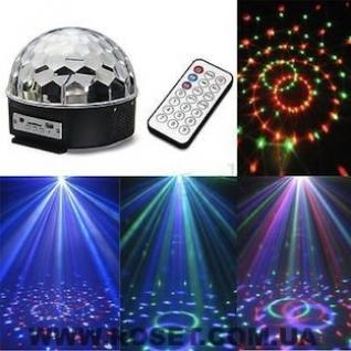 Дискошар светодиодный LED Magic Ball Light AB-0008+3 подарка на выбор