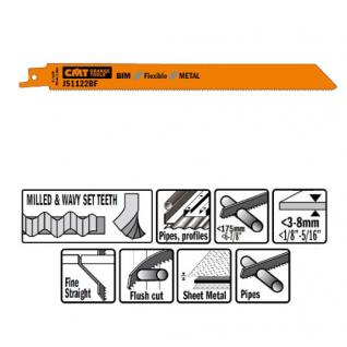 Пилки сабельные СМТ 20 штук для металла (BIM) 225x1,8x14TPI JS1122BF-20