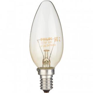 Электрическая лампа Philips свеча/прозрачная 60W E14 CL/B35 (10/100)