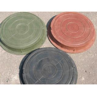 Люк канализ. полимерный 15 кН круглый зеленый (758х60 мм)
