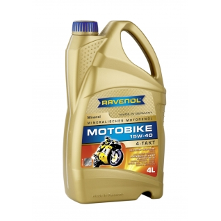 Моторное масло Ravenol Motobike 4-T Mineral 15W40 4л