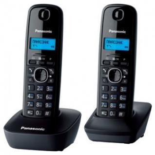 Радиотелефон Panasonic KX-TG1612RUH серый,доп.трубка,АОН