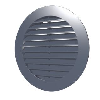 Решетка наружная вентиляционная круглая ERA 12РКН D150 с фланцем D100, ASA- пластик, серая