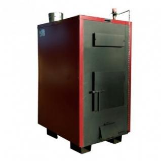 Буржуй-К Т-150А-2К – двухконтурный твердотопливный пиролизный котел с автоматическим регулятором тяги мощностью 150 кВт