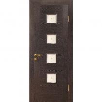 Дверное полотно МариаМ Рондо ПУ лак остекленное 600-900 мм Черный абрикос