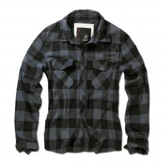 Brandit Рубашка Brandit в клетку, цвет черно-серый