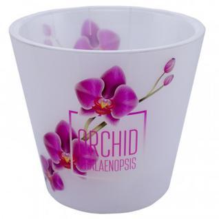 Горшок для цветов Фиджи Орхид Деко D 160 мм/1,6л розовая орхидеяING6196РЗ