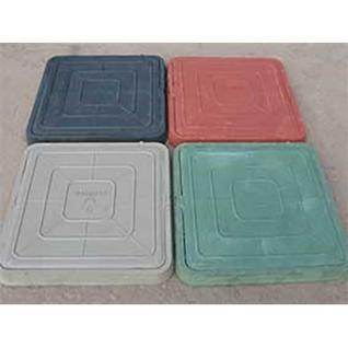 Люк канализ. полимерный 6 кН квадратный малый зеленый (470х55мм)