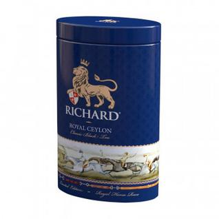 Чай Richard Royal Ceylon черный листовой, ж/б, 80г