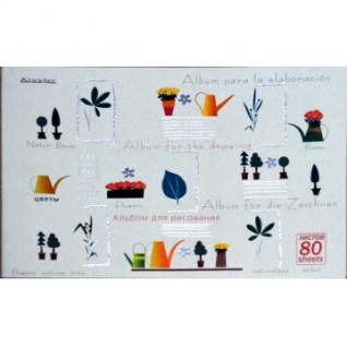 Альбом для рисования 80л,склей,100гр.А4,Стиль,фольга,60601,в асс