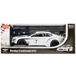 Машина Р/У Rastar Bentley Continental Gt3 1:14 Со Светом, Цвет Белый