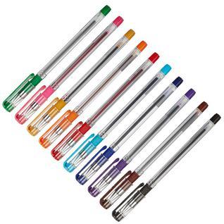 Ручка шариковая Attache 10цв/набор, с манжеткой, 0,6мм