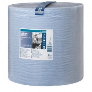 Бумага протирочная Tork W1 2сл.1500x1рул/кор,голубой 130050