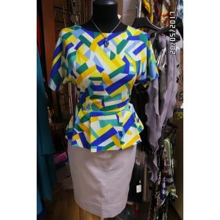 Блуза с баской 48 размер