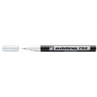 Маркер пеинт (лак) EDDING E-792/49 белый 0,8мм, пласт. корп.