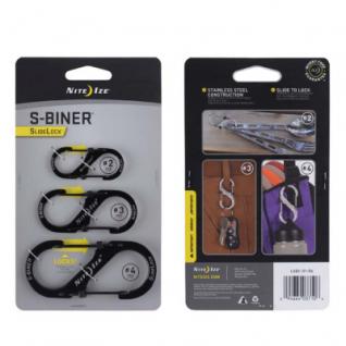 Набор карабинов Nite Ize S-Biner SlideLock 3Pack Black LSBC-01-R6