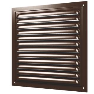 Решетка металлическая ERA 1515МЭ коричневая (70шт/уп)
