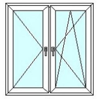 TEPLOWIN Двухстворчатое окно Darrio Гост 100 с двумя створками