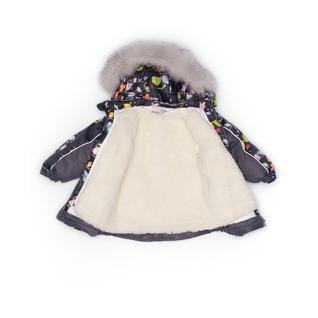 Комплект MalekBaby (Куртка + Полукомбинезон), С опушкой, №274/1 (Птички+серый) арт.409ШМ/2