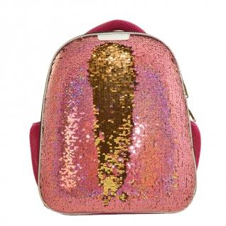 Ранец №1School Sparkle Miracle Pink, ортопед. cпинка, двустор.пайетки