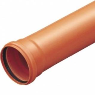 Труба фановая оранжевая 160мм с раструбом, длина 1000мм