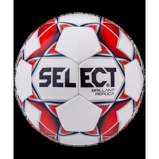 Мяч футбольный Select Brillant Replica 811608, №4, белый/красный/серый 1/25 (4)