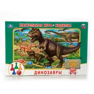 """Настольная Игра-Ходилка """"Умка"""" Динозавры В Русс."""