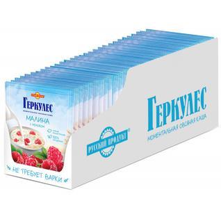 Русский продукт Овсяная каша момент Геркулес с малиной (и молоком) 35г