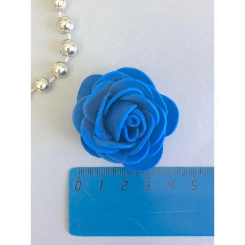 Роза из латекса 40мм, круглая, 1 шт, синий 36977829