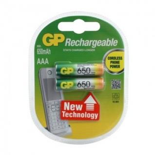 Аккумулятор GP 650mAh AAA/НR03 NiMh бл/2шт