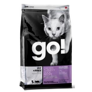 """Сухой беззерновой корм для котят и кошек GO! """"Fit + Free"""", с курицей, индейкой, уткой и лососем, 1,81 кг GO!"""