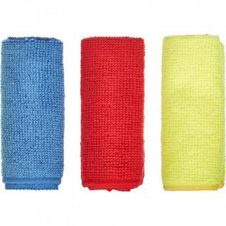 Салфетки хозяйственные Luscan микрофибра 180г 25х25см 3шт/уп син/крас/желт