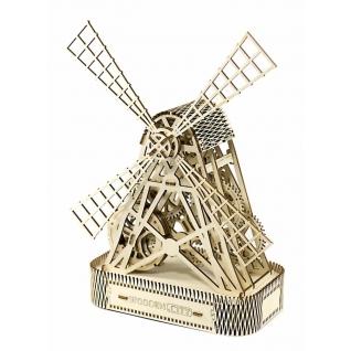 Сборные модели Wooden City Деревянный конструктор 3D Мельница