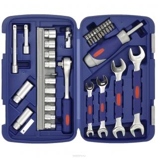 Набор торцевых головок, ключей и отвертка реверсивная 1/2 дюйма от 8 до 19 мм 31 предмет