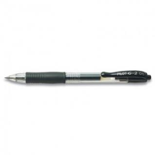 Ручка гелевая PILOT BL-G2-5 авт.резин.манжет.черная 0,3мм Япония