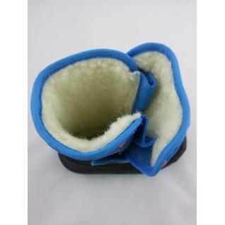 200150 голубой сапожки зимние для девочки 24-31 (24) Mursu