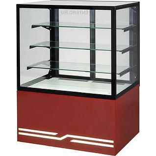 UNIS Витрина кондитерская UNIS Cube II 1000 красная