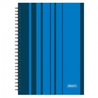Бизнес-тетрадь Аttache Сoncept А4/120л,тв. переплет на спирали,кл,синий