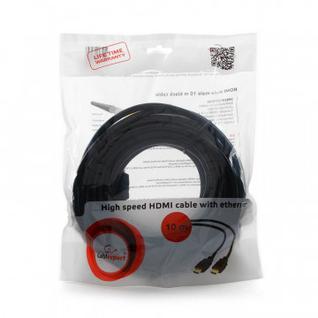 Кабель HDMI - HDMI, 19М/19М, 10 м, v2.0, поз.р, экр,Cablexpert,CC-HDMI4-10M