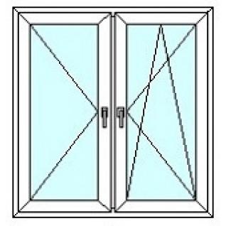 TEPLOWIN Двухстворчатое окно Тепловин Эстетик 400 с двумя створками